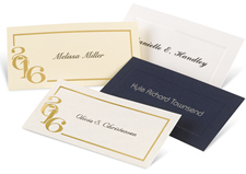 Graduation announcements commencement invitations name cards are produced using the same font style font color and card stock to match the graduation announcement filmwisefo