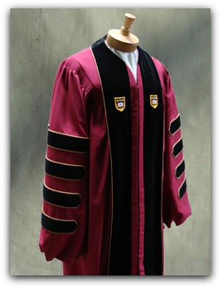 The Traditional Claasicl Doctoral Gown By University Cap