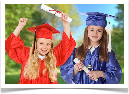 Preschool and Kindergartent Caps & Gowns by University Cap & Gown