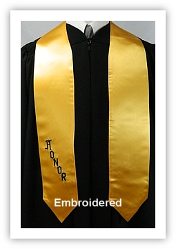 Embroidered Honor Stoles from University Cap & Gown