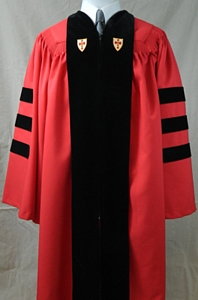 The authentic Boston University doctoral outfit by University Cap & Gown