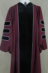 The authentic UMass Amherst doctoral outfit by University Cap & Gown