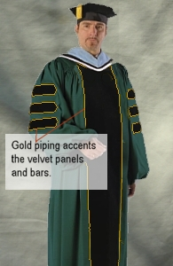 Plymouth State University Doctoral Outfit from University Cap & Gown