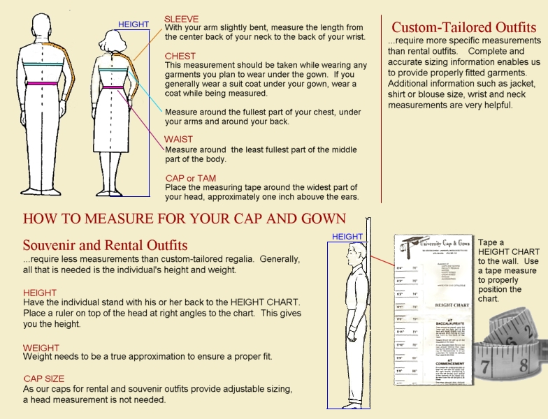 How to Measure for Your Academic Gown